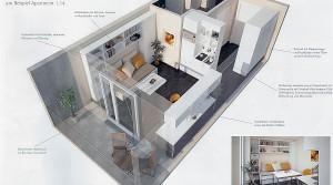 Apartment-Zähringer-Strasse-3D