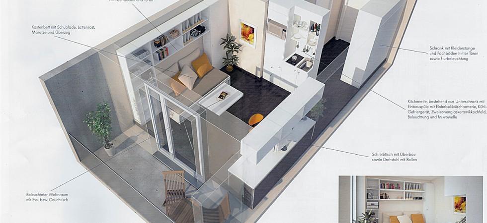 Studentenapartment kaufen in Freiburg-Zähringen (Neubau Wohnung) Bachgasse