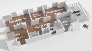 Schöne helle 4 Zimmer-Wohnung zur Miete in Lahr / große Dachterrasse / renoviert / zentral gelegen.