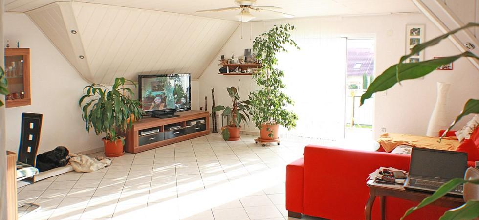 3 Zimmer Wohnung kaufen in Mahlberg. Auf 120m², Südbalkon, offene Küche
