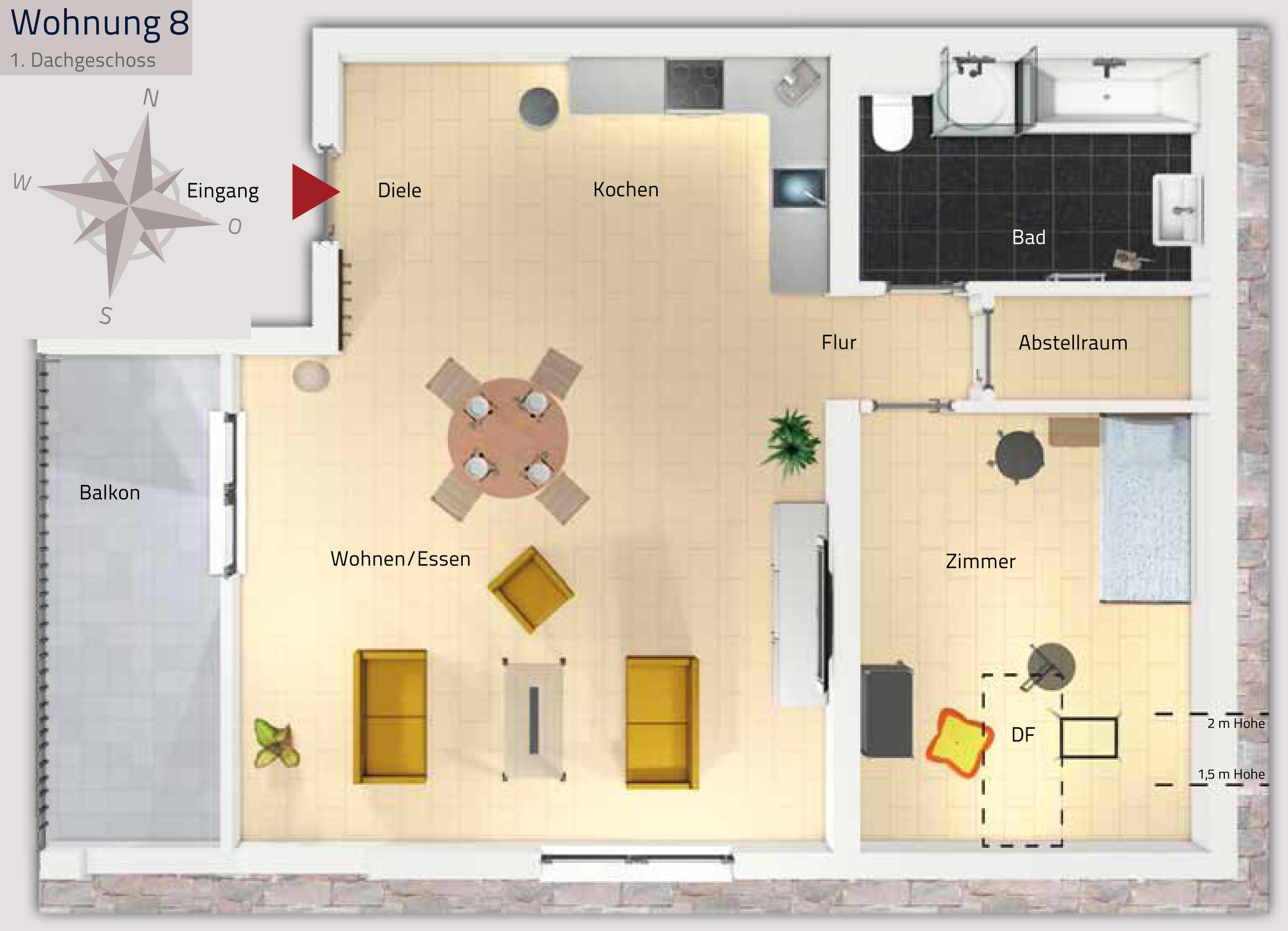 2 zimmer loft wohnung zur miete in lahr neuwerkhof. Black Bedroom Furniture Sets. Home Design Ideas